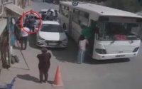 Bakıda sürücünü avtobusdan düşürdüb döydülər - ANBAAN VİDEO