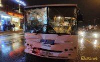 Bakıda iki sərnişin avtobusu toqquşdu - Xeyli sayda yaralı var - FOTOLAR