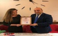 """Tanınmış ictimai xadim Fəxrəndə Həsənzadə """"Hacı Zeynalabdin Tağıyev adına Qızıl Medal""""a layiq görülüb"""