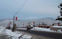 Xankəndinin girişində Rusiya bayrağı və  erməni əskisi yan-yana…-FOTO