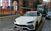 Keçmiş nazirin oğlu Londonda bahalı maşınlarla kef edir - Mehman Hüseynov