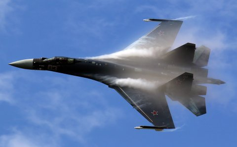 """Rusiyanın Su-35 qırıcıları Türkiyənin F-16 qırıcılarını Suriyadan """"qovdu"""""""