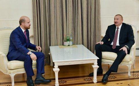 Prezident Ərdoğanın oğlu ilə görüşdü - Foto