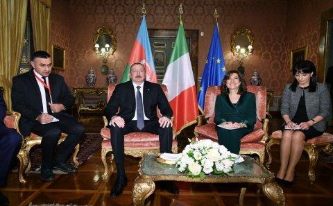 İlham Əliyev İtaliya Senatının Sədri ilə görüşüb