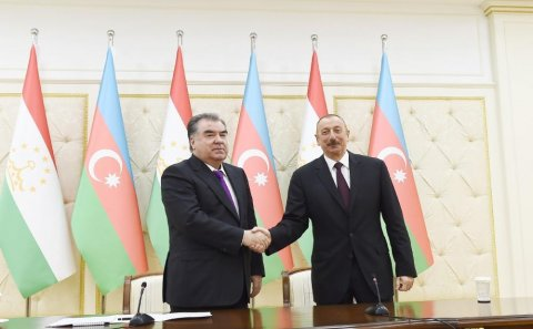 İlham Əliyev tacikistanlı həmkarına məktub göndərdi