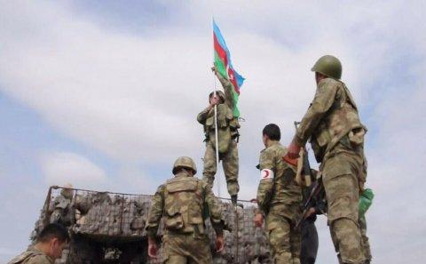 Ağdamın bu kəndində Azərbaycan bayrağı ucaldıldı