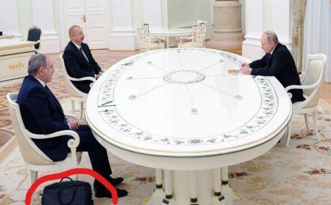 Moskva görüşündə Nikolun çantası diqqət çəkdi... – Foto