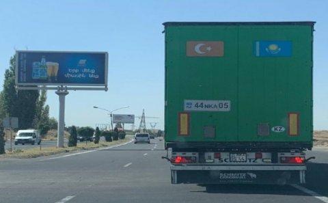 Sevan-Yerevan yolunda Türkiyənin yük maşını – FOTO