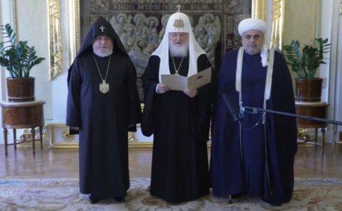 Patriarx Kirill dini liderlərin üçtərəfli görüşünə dair bəyanat yayıb